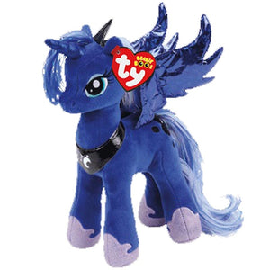"Ty Beanie Boos Blue Unicorn Sparke Princess Luna Plush Toy Animal Doll 6"" 15cm"