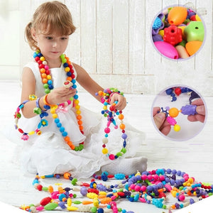 Hot toys Pop Beads Snap-Together Kid Jewelry Fashion Kit DIY Necklace Ring Bracelet Crafts