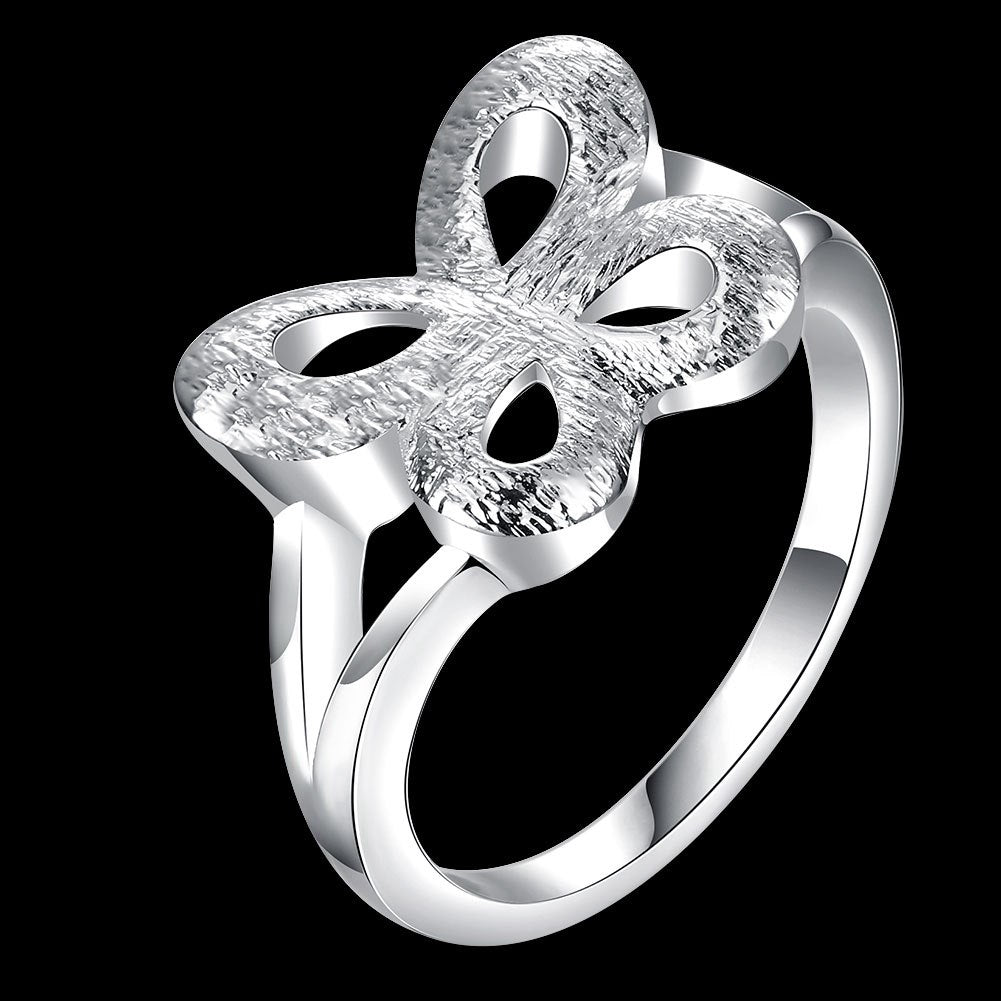 925 Sterling Silver Special Butterfly Woman Rings Vintage Stylish Hot Sale
