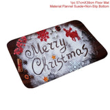 FENGRISE Flannel Merry Christmas Door Mat Rug Christmas Decoration for Home Navidad Christmas Ornaments 2018 Xmas Party New Year