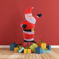 Costway 4Ft Airblown Inflatable Christmas Santa Claus Lighted Decor Lawn Yard Outdoor