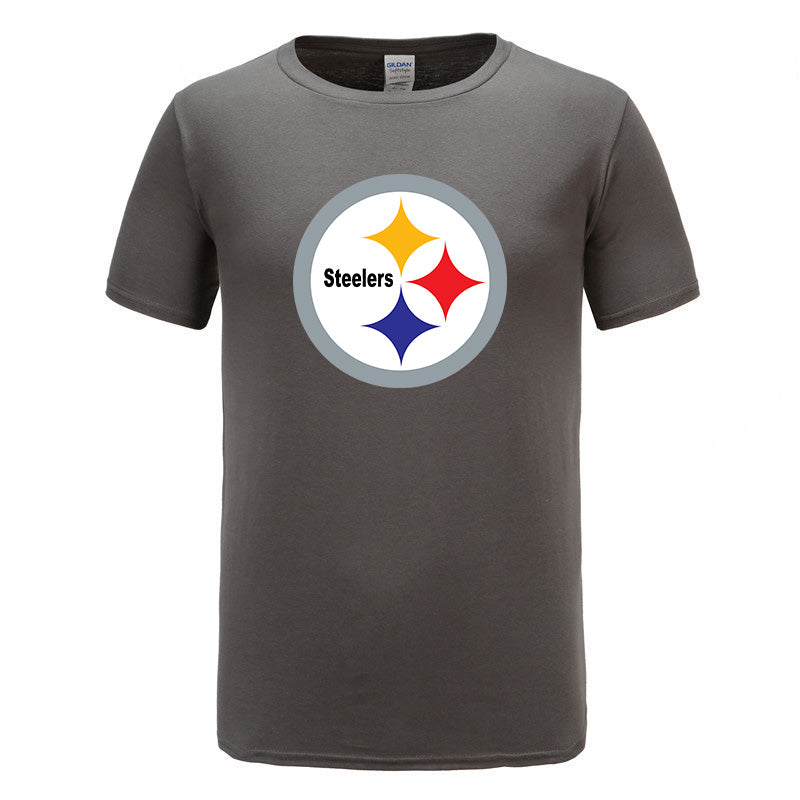 Steelers Print Mens Slim Pullover 100% Cotton shirt