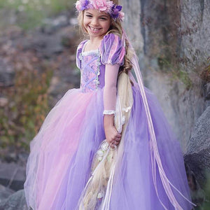 Girls Rapunzel Princess Costume