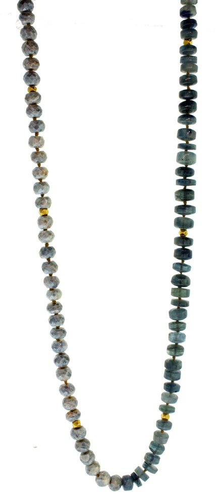 MOSSAQUA SILVERITE NECKLACE