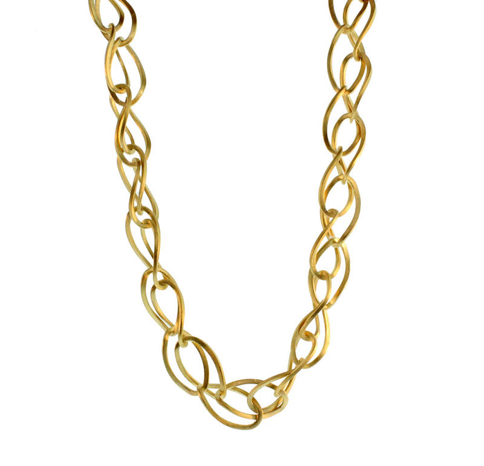 Double Twisted Oval Necklace