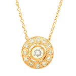 Circle Diamond Halo Pendant