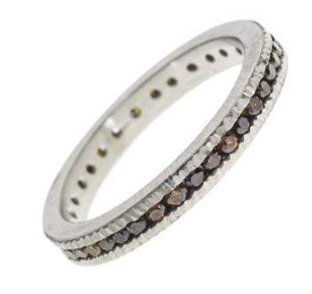 Palladium Band with Autumn Diamonds