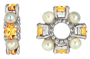 W-72 White Gold Citrine and Pearl Wheel