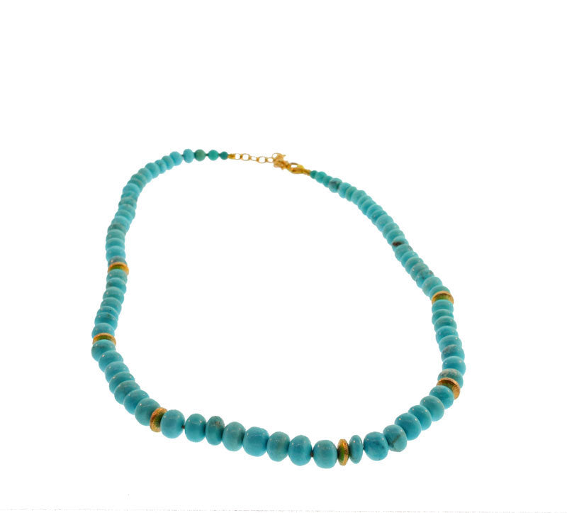 Cabochon Turquoise Bead Necklace