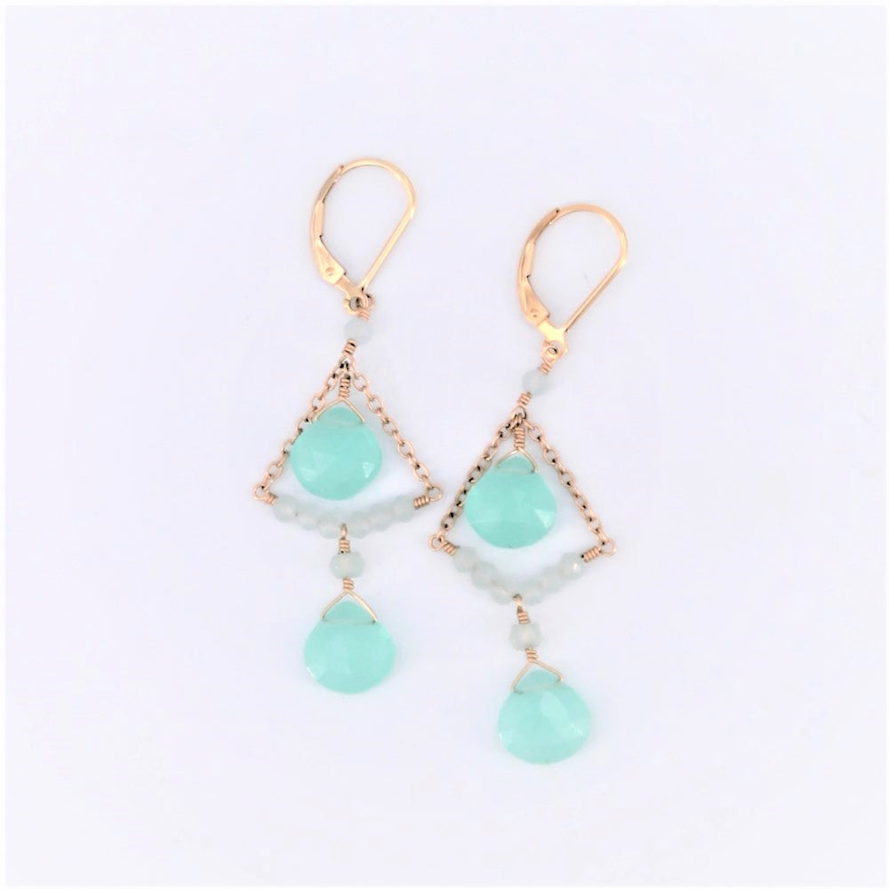 Chalcedony Chandelier Earrings