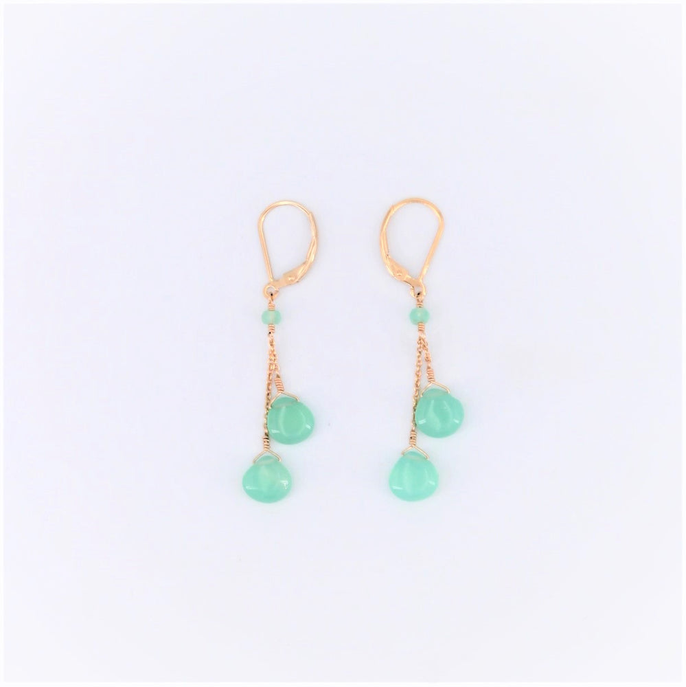 Double Drop Chalcedony Earrings