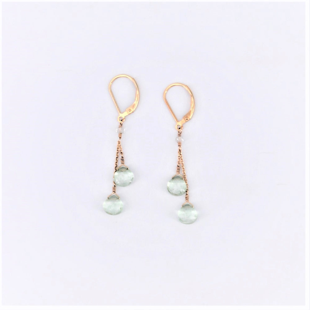 Double Drop Quartz Earrings