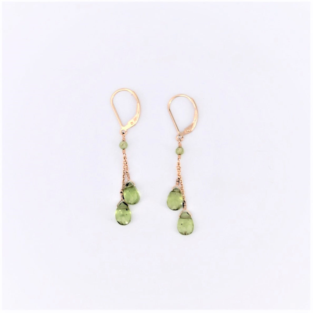 Double Drop Peridot Earrings