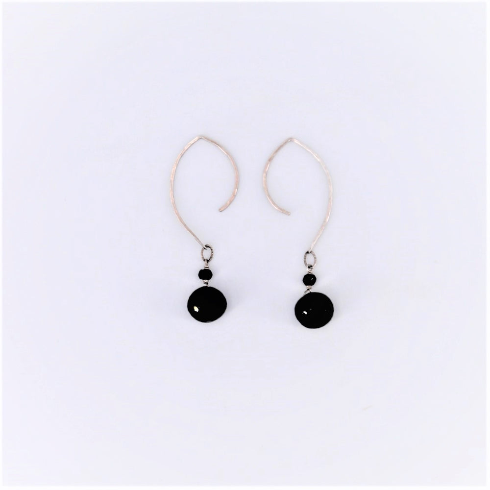Black Spinel Dangle Earrings