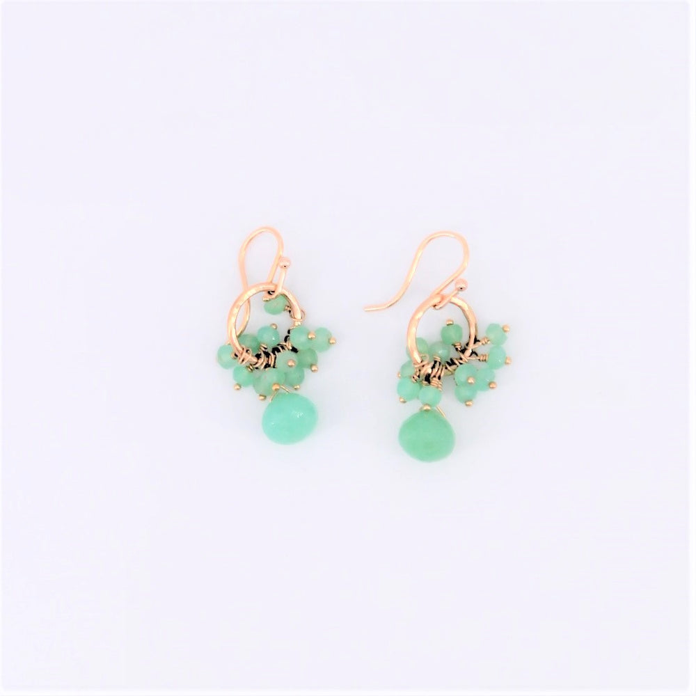 Chrysoprase Cluster Earrings