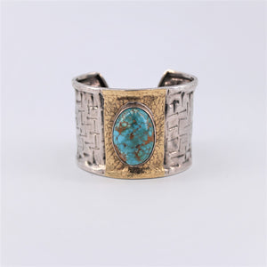 Oval Turquoise Cuff