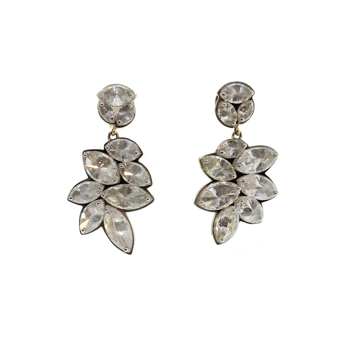 Large Marquise Cut Diamond Earrings