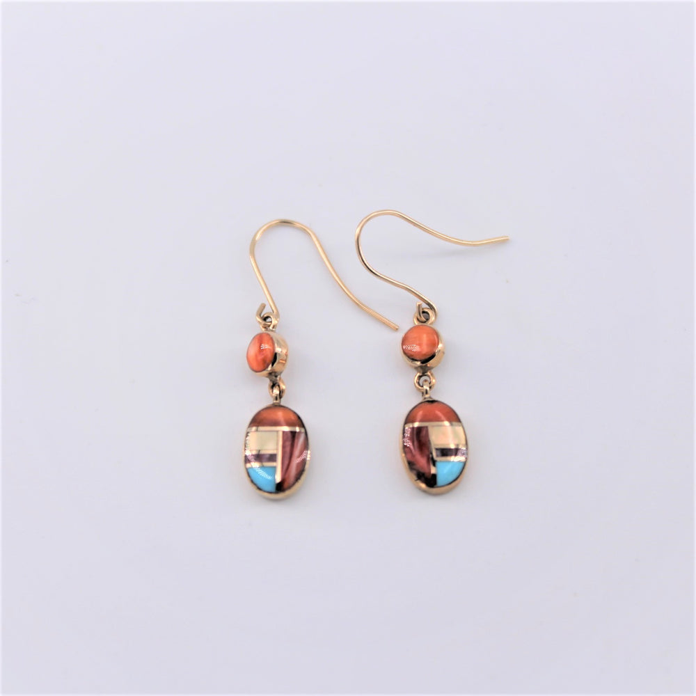Spiny Multi Inlay Earrings