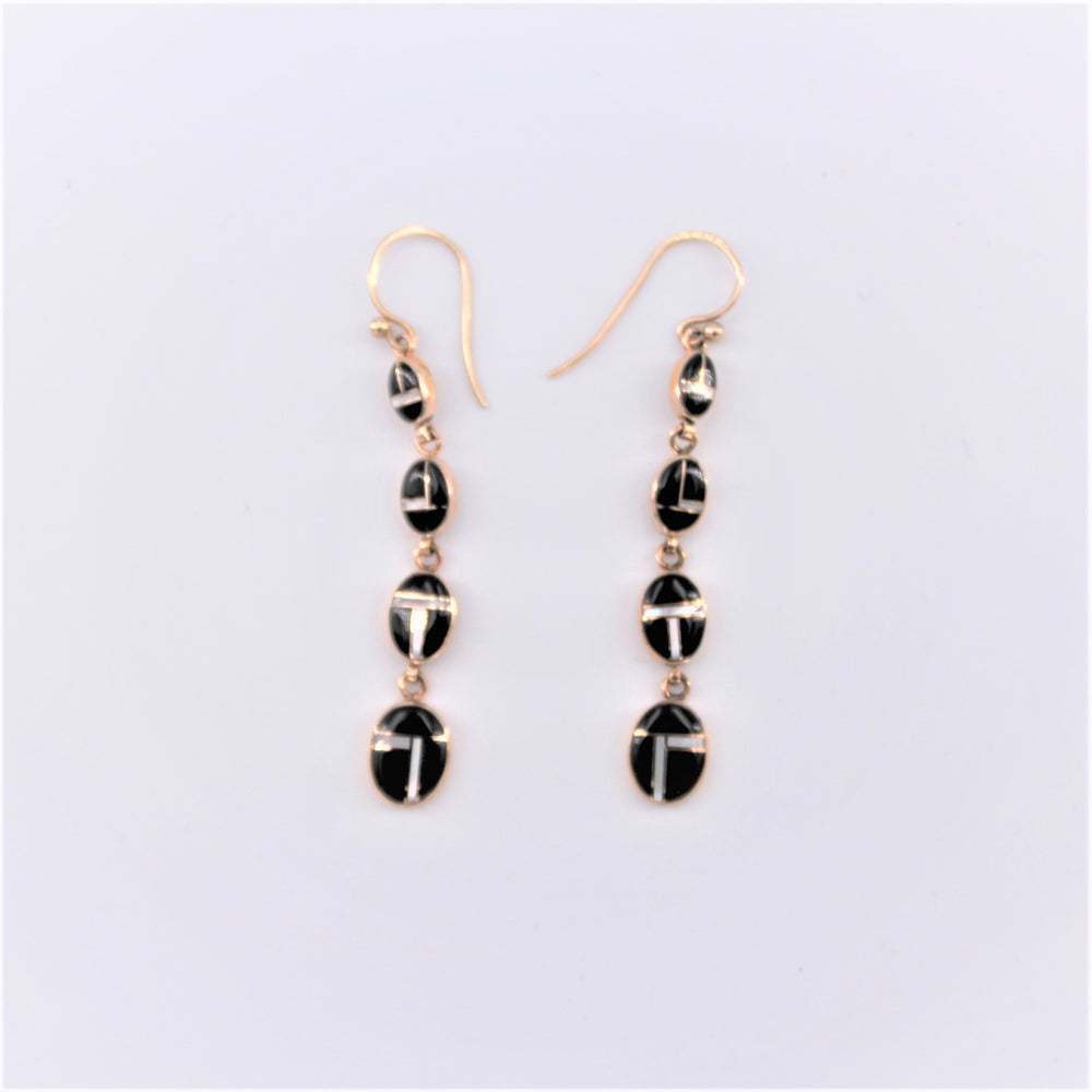 Black and White 4 Drop Earrings