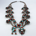 Rainbow Dancer Squash Blossom Necklace