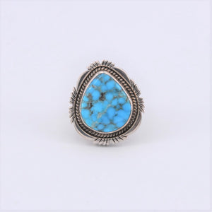 Turquoise 'Egg' Rope & Cutout Ring
