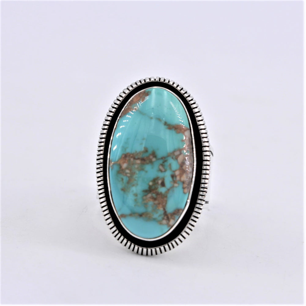 Oval Turquoise & Sterling Silver Ring