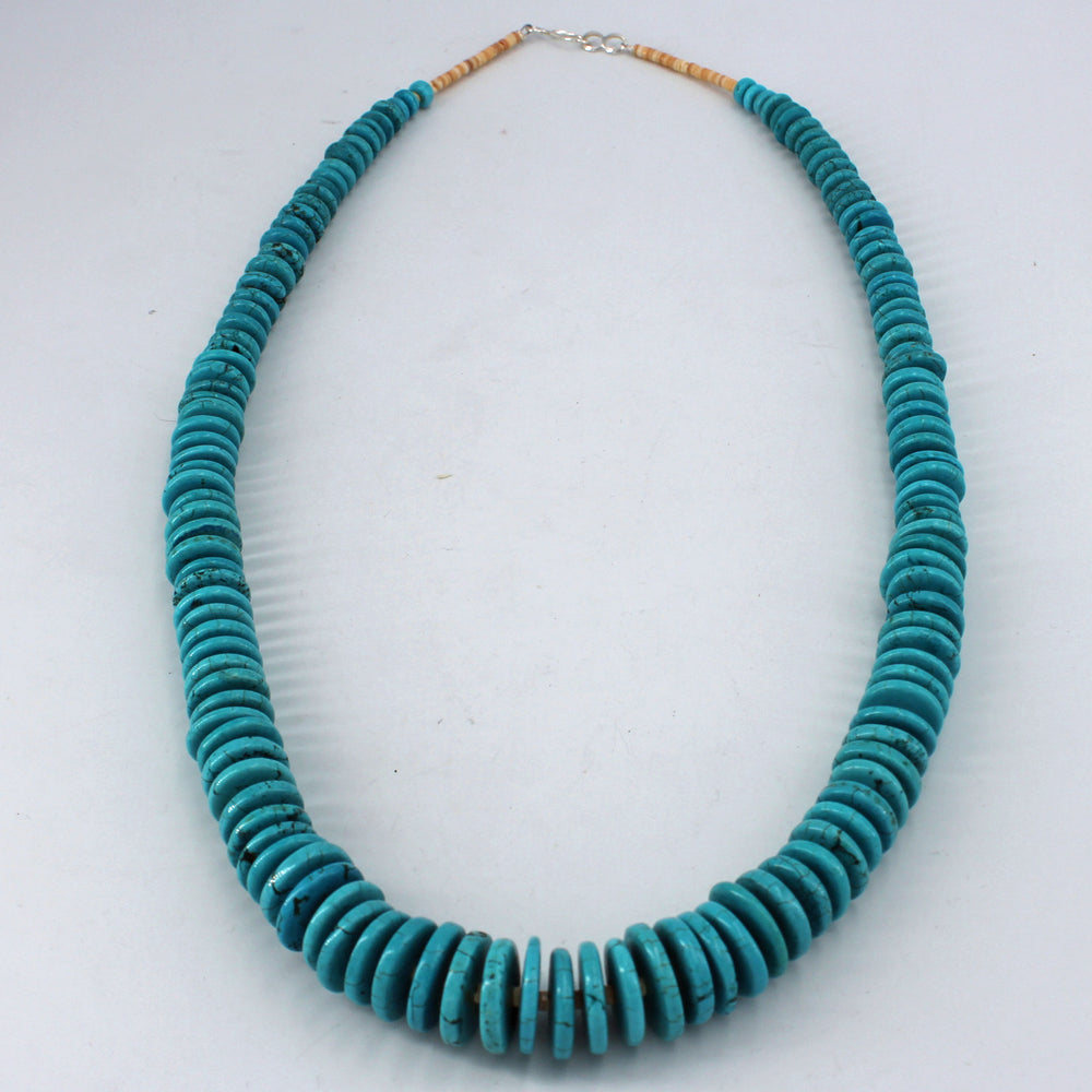 Cheryl Lucero: Turquoise Disc & Heishi Necklace