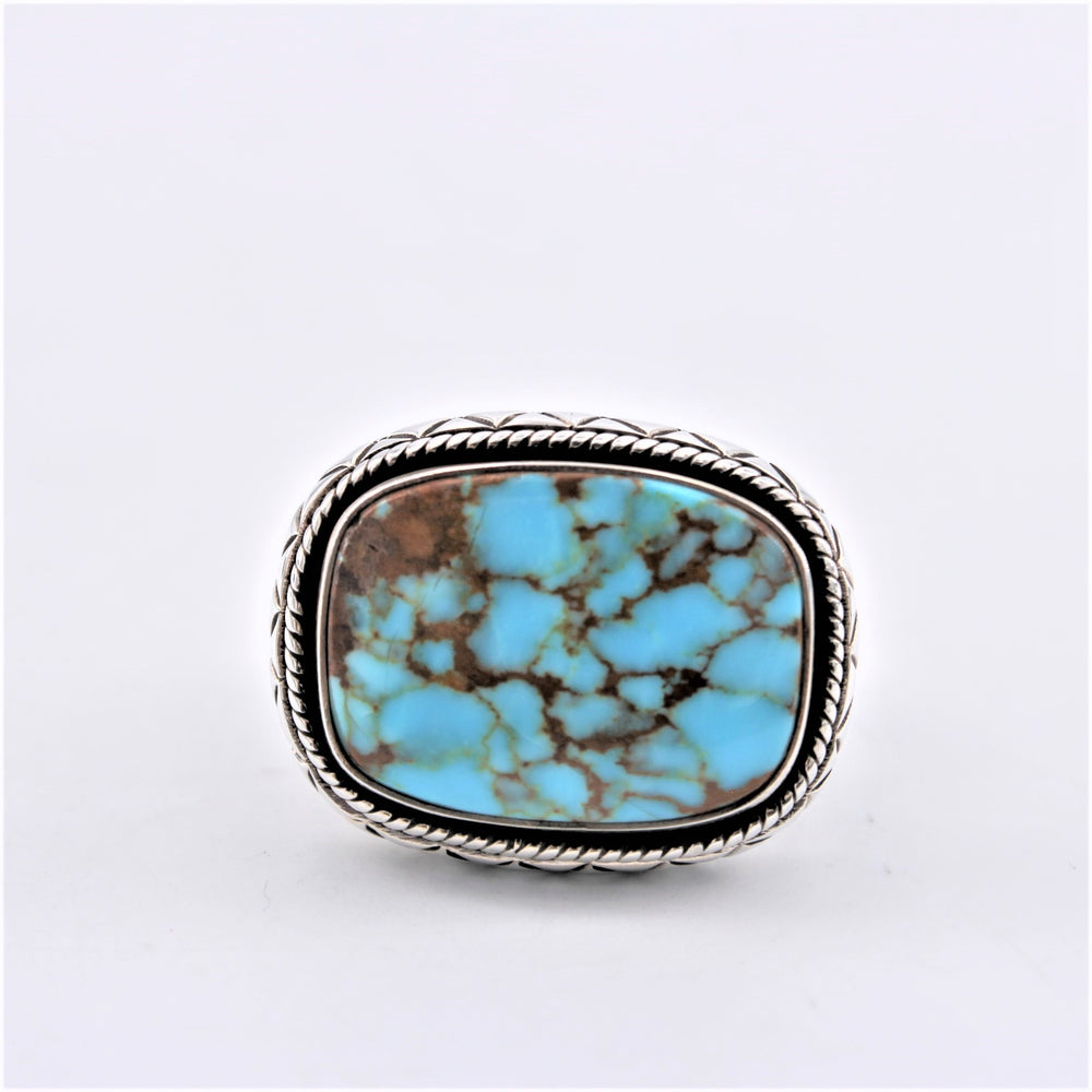 Stamped Turquoise Ring