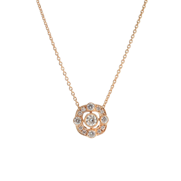 Diamond and Rose Gold Necklace