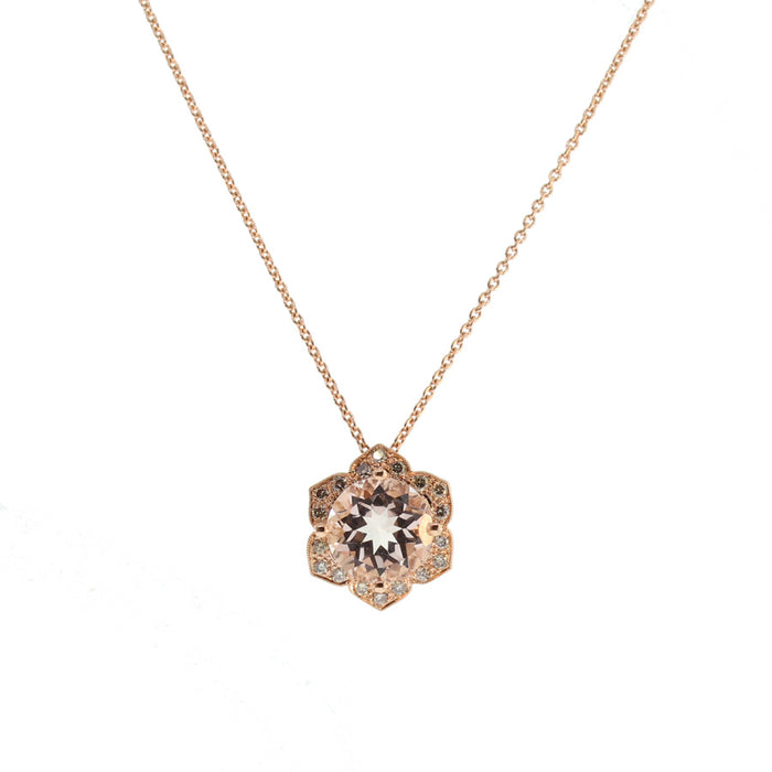 Rose Gold and Morganite Necklace