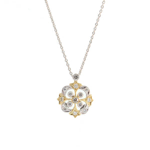 White and Yellow Gold Necklace