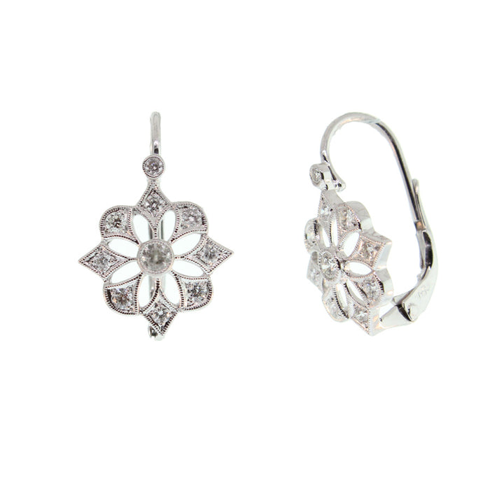 Four Point Diamond Earrings