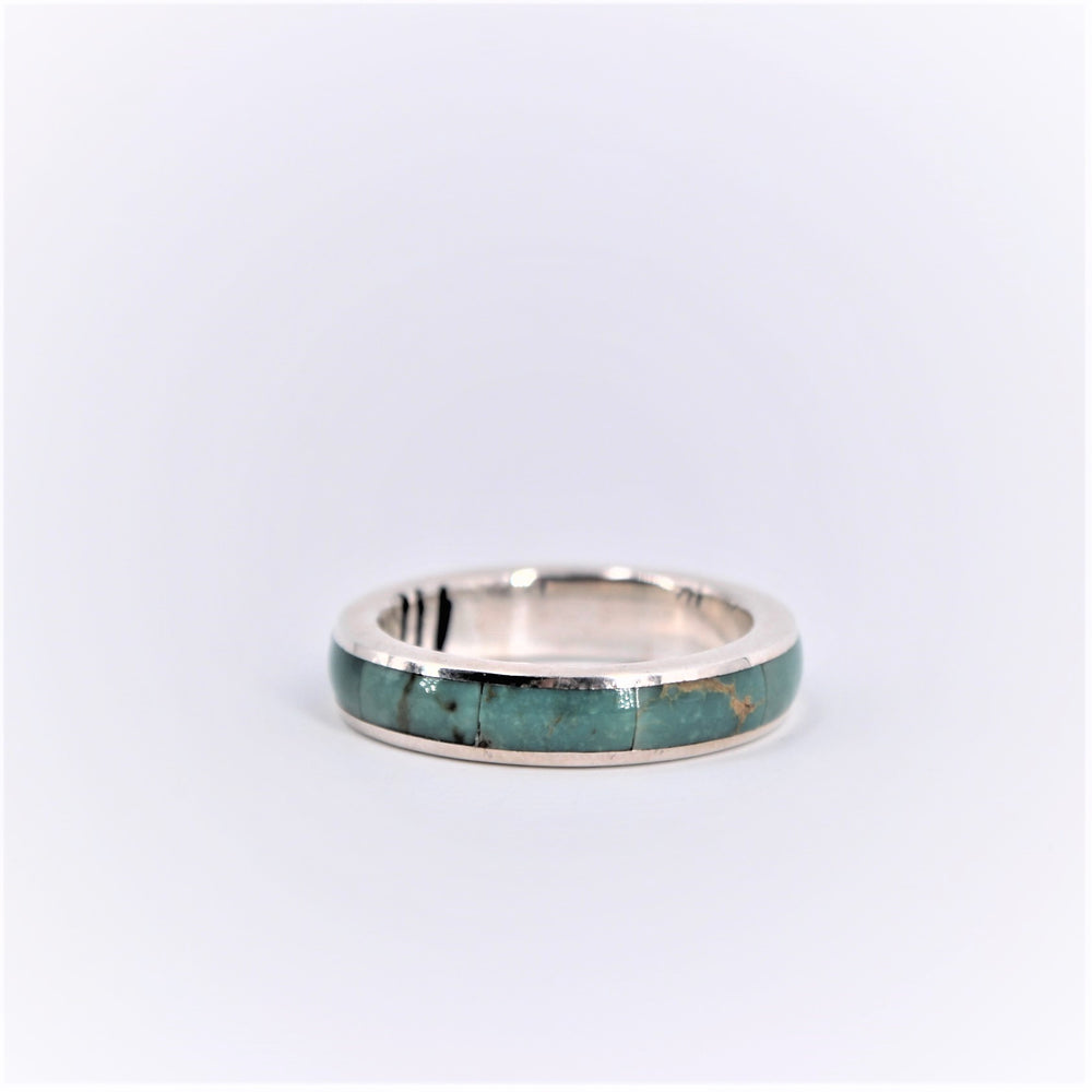 Turquoise Inlay Thin Ring