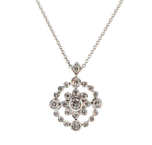 Open Flower Diamond Pendant