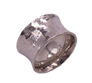 Wide Silver Vale Ring