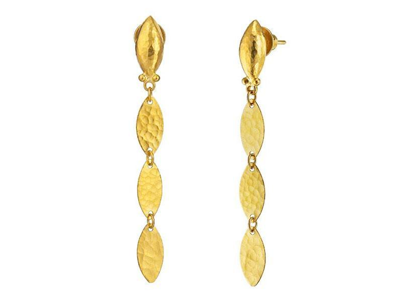 24K Willow Drop Earrings