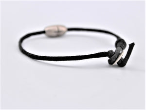 Leather Peace Bead Bracelet