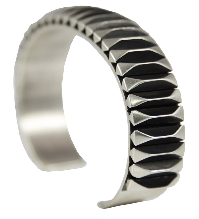 Sterling Silver Fluted Men's Cuff