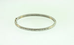 18KW Diamond Round Bangle