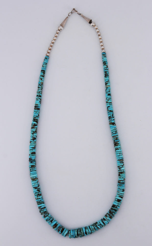 Sterling Silver & Turquoise Heishi Necklace