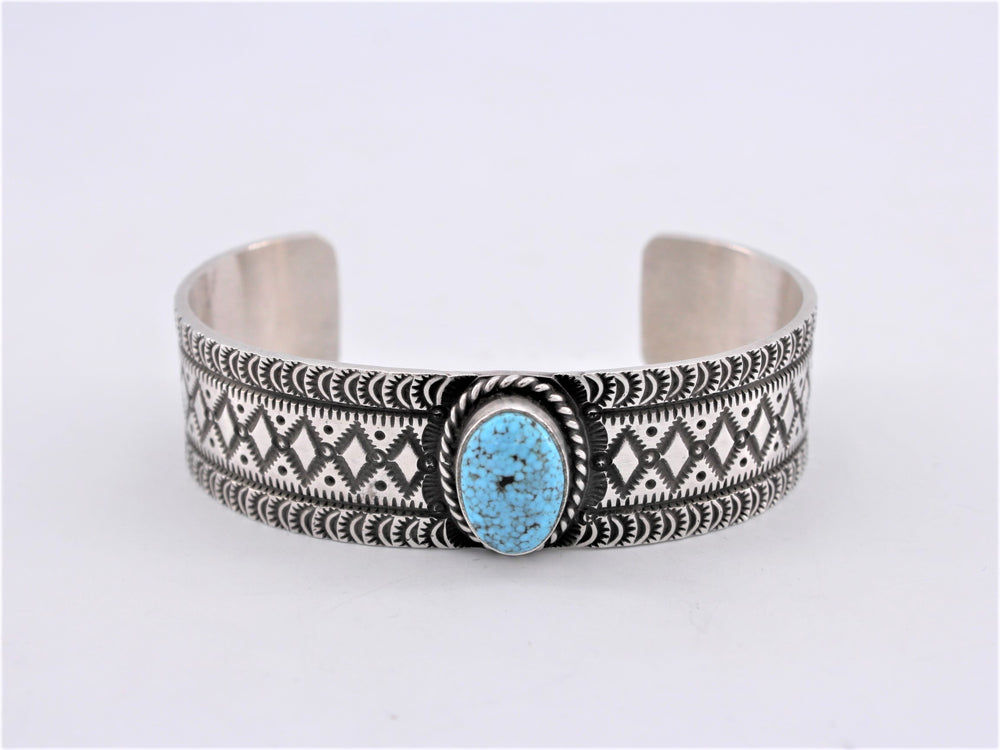 Tooled Band Turquoise Cuff