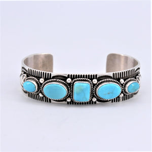 Five Stone Turquoise Cuff