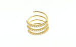 18K .95 TCW Diamond Three Strand Ring