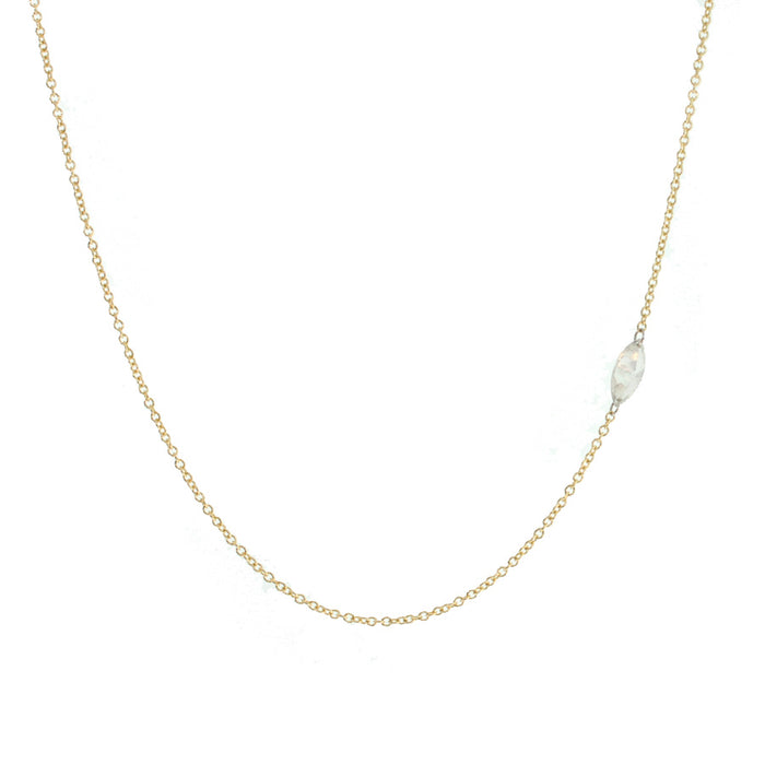 Single Marquise Cut Diamond Necklace