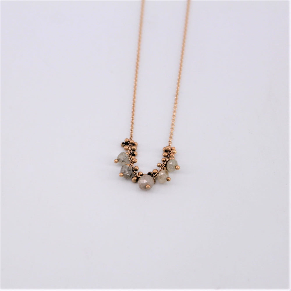 Grey Cluster Necklace