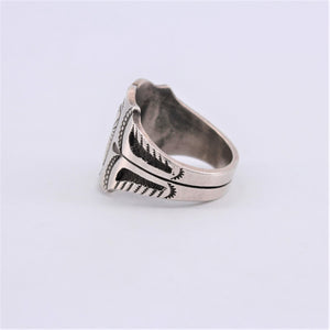 Tooled Sterling Silver Ring