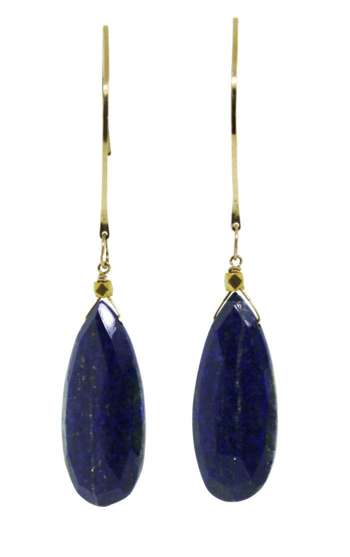 Lapis Single Drop Dangle