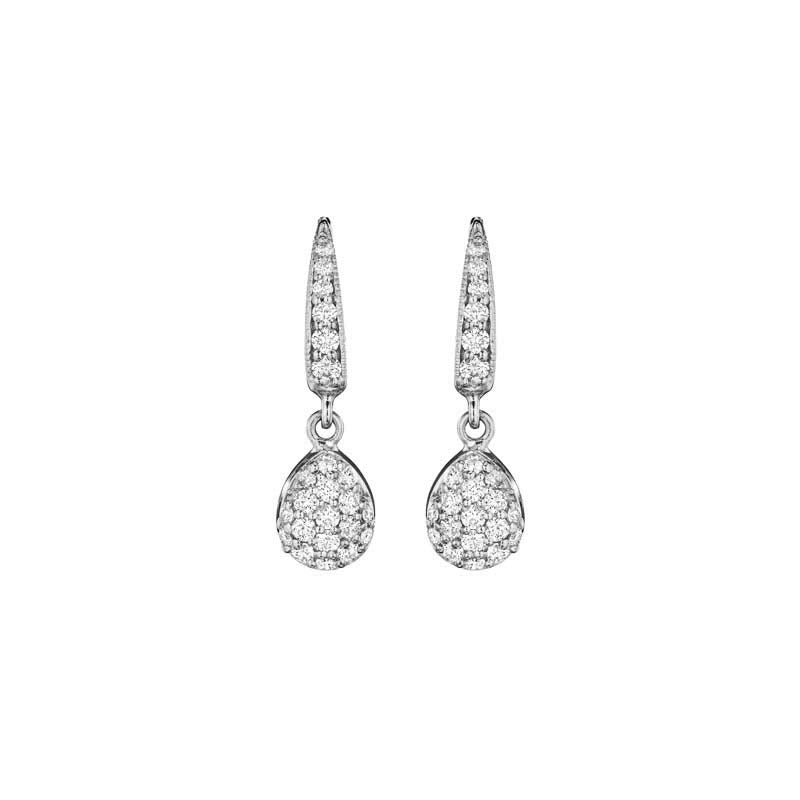 Pave Pear Drop Earrings