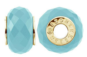 W-434C Faceted Blue Jade Wheel