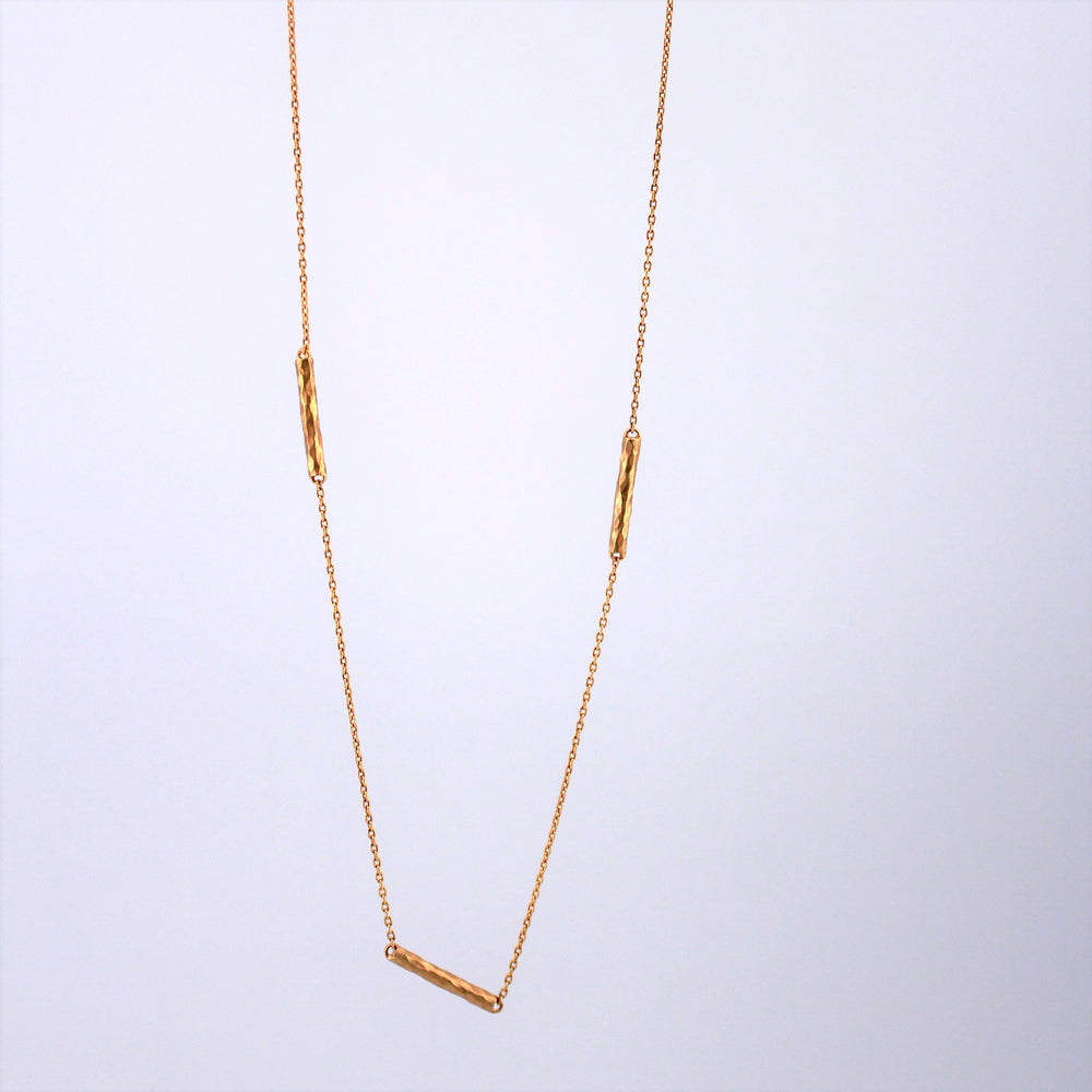 Hammered Twig Necklace